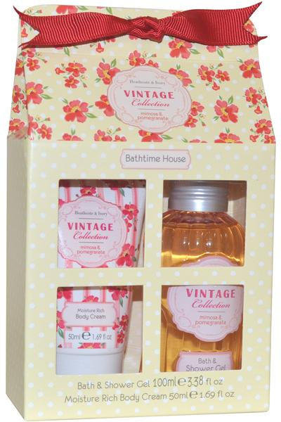 Vintage collection bathtime house set body cream 50ml for Beau jardin hand cream collection