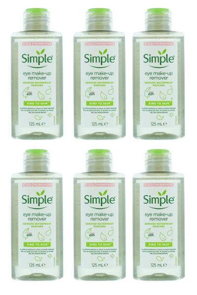 Simple - Eye Make Up Remover 125ml x 6 (750ml)