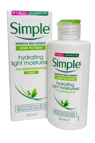 Simple - Hydrating Light Moisturiser 125ml 12hr Moisturisation